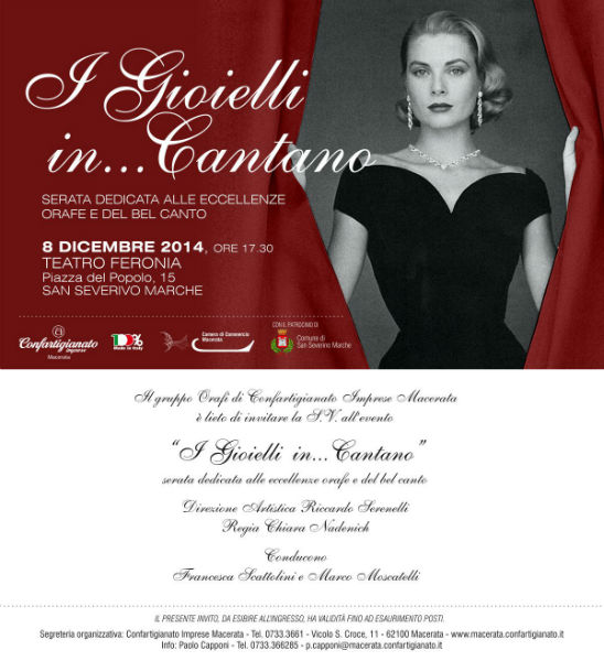 Jewels and lyrics... Goldsmith creations and classical music on 8th December at San Severino Theatre