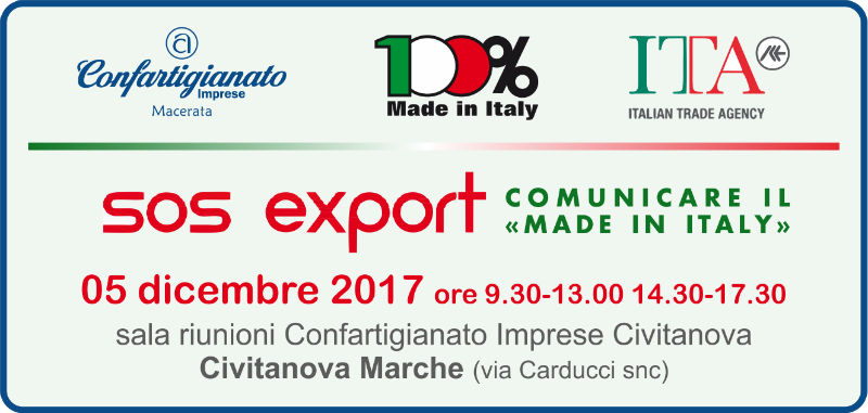 "SOS Export - Comunicare il ""Made in Italy"""