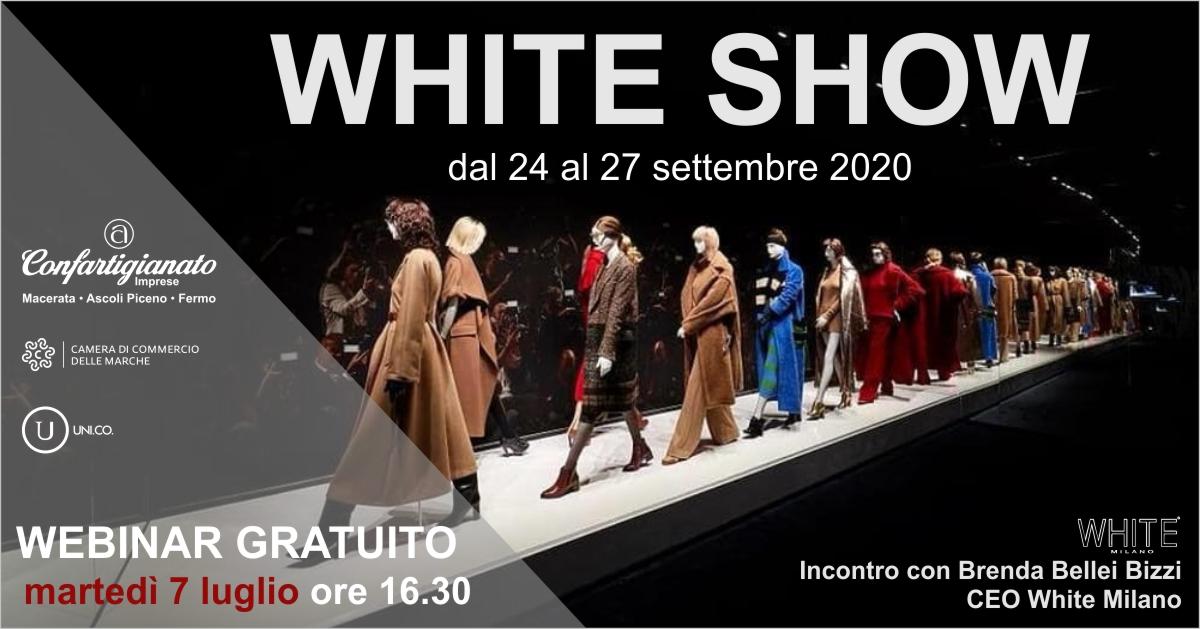 incontro web white show 7 luglio